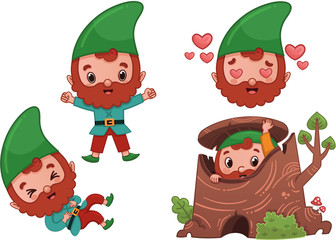 Vector Forest Gnome Character Page 2