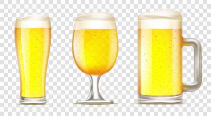 Set of glass of beer.