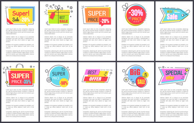 Super Sale and Special Offer Vector Illustration