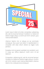 Special Price Promo Sticker 25 Off Advertisement