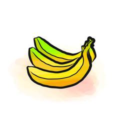 Colored drawing of bananas