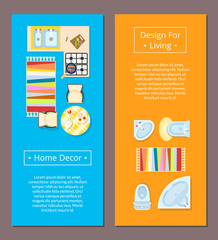 Home Decor Design for Living Vector Illustration