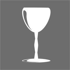 element icon logo drink for bar gray minimalistic