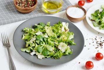 Bistro Salad Cabbage Arugula Oil Pepper Tomato Vegetables  Preparation Lifestyle Healthy Spring Food Vegetarian Diet