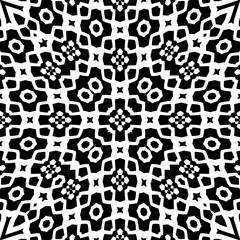 Decorative pattern in a black - white colors