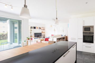 Interiors of modern furnished apartment