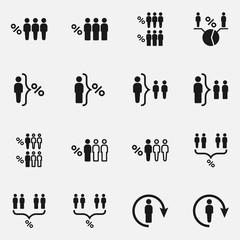 Set of human infographics vector icons.