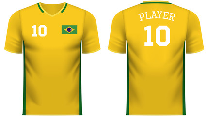Brazil Fan sports tee shirt in generic country colors