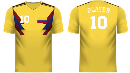 Colombia Fan sports tee shirt in generic country colors