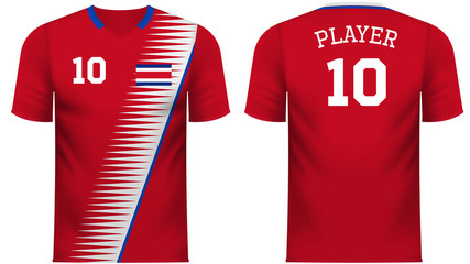 Costa Rica Fan sports tee shirt in generic country colors
