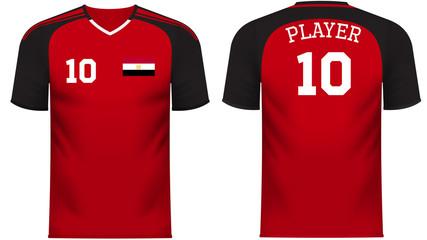 Egypt Fan sports tee shirt in generic country colors