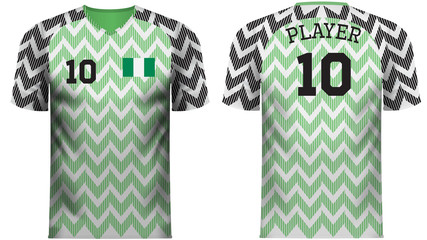 Nigeria Fan sports tee shirt in generic country colors