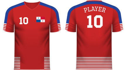 Panama Fan sports tee shirt in generic country colors