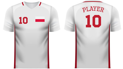 Poland Fan sports tee shirt in generic country colors