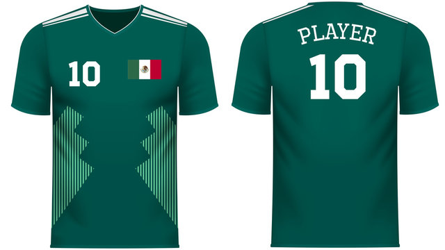 Mexico Fan sports tee shirt in generic country colors