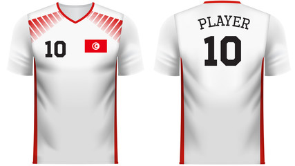 Tunisia Fan sports tee shirt in generic country colors