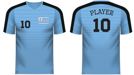 Uruguay Fan sports tee shirt in generic country colors