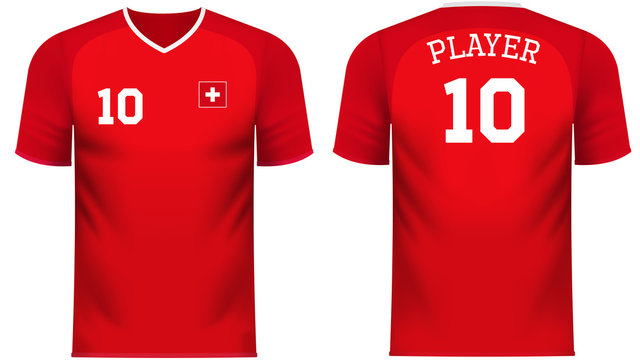 Switzerland Fan sports tee shirt in generic country colors