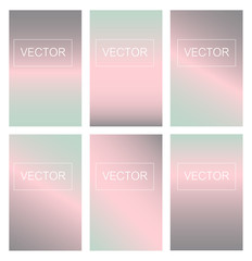 Screen gradient set with modern abstract backgrounds. Colorful fluid cover for poster, banner, flyer and presentation. Trendy soft color. Template  for business infographic, social media, mobile app