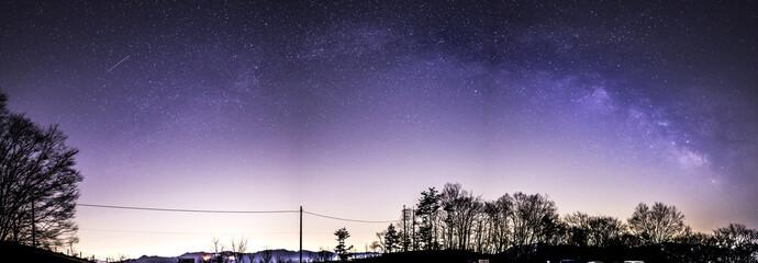 Milkyway above Chichibu, Saitama, Japna
