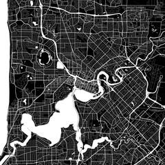 Area map of Perth, Australia