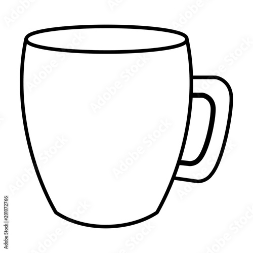 "The Mug Coffee >> ""coffee mug handle ceramic icon image vector illustration outline"" Stock image and royalty-free ..."