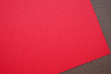 Blank red and brown paper texture background, art and design background