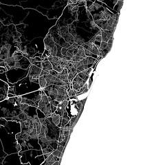 Area map of Recife, Brazil