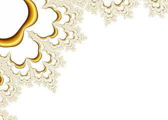 Gold Fractal Pattern on White Background - Elegant Illustration, Image
