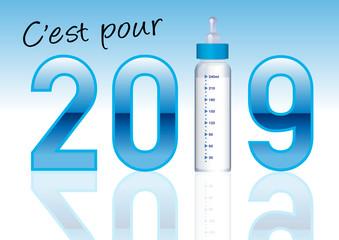 faire part - 2019 - faire part de naissance - bébé - garçon - bleu - original - humoristiques - parent