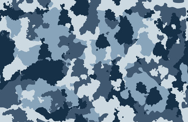 Print texture seamless camouflage blue white black spot repetitive