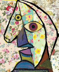 Picasso sketch in decoupage