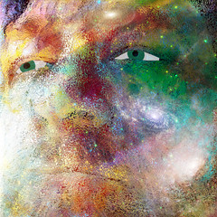 Man Face in Universe