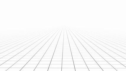 White tile flooring, texture background, 3d illustration Wall mural