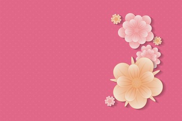 Mother's Day - background with flowers and copyspace. Vector.