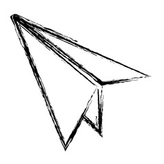 grunge paper airplane fly origami object