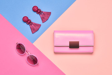 Fashion Minimal woman Accessories. Pastel color