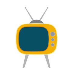 Retro tv isolated on white background. Old tv. Vector stock.