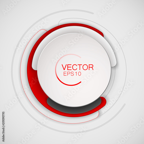 abstract white and red circle for banner design circular banner for
