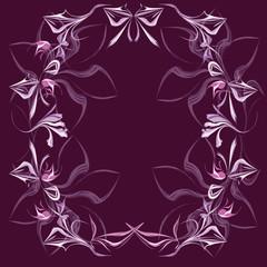 Fantasy flower frame for the text