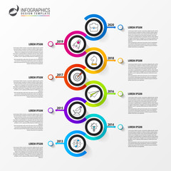 Timeline. Infographic design template. Business concept. Vector
