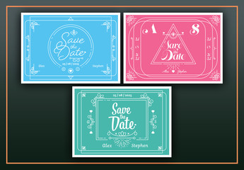 3 Save the Date Invitation Layouts