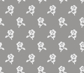 seamless lace floral ornament, vector illustration
