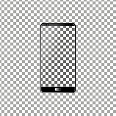 New phone front and black vector drawing eps10 format isolated on transparent background
