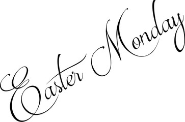 Easter Monday text sign illustration