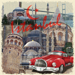 Istanbul vintage poster.