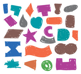 shapes set hand-drawn vector
