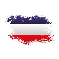 french flag national emblem grunge vector illustration