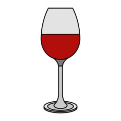 red wine glass cup beverage image vector illustration