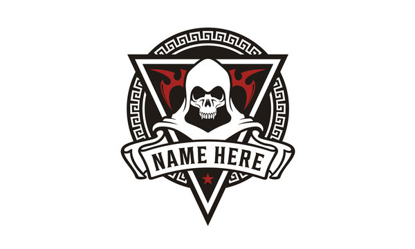 Killer Skull Badge for game or community logo design inspiration